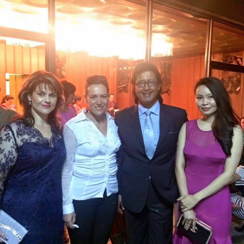 Rajesh Hamal and his Madhu wife at Russian embassy- thecinematimes.com